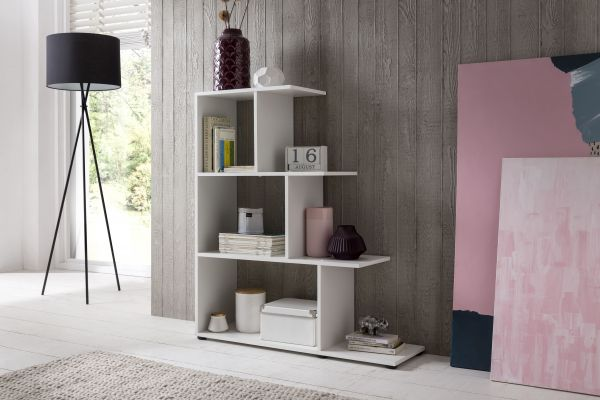 Treppenregal Raumteiler 93 x 108 cm in 5 Farben