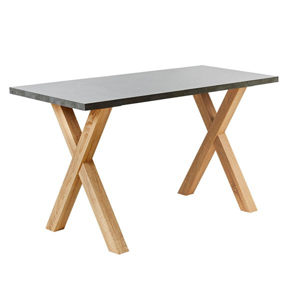 Tisch Thore Grau/Natur 70 x 160 cm