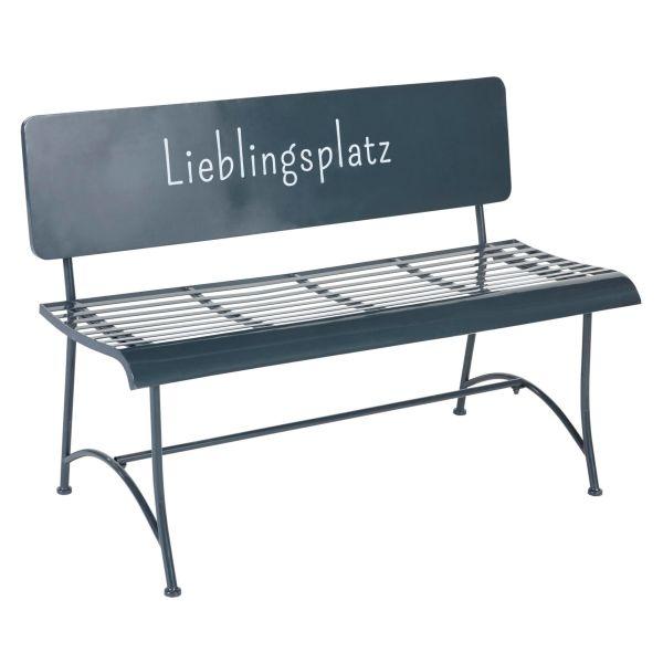 Outdoor-Bank Lieblingsplatz Grau