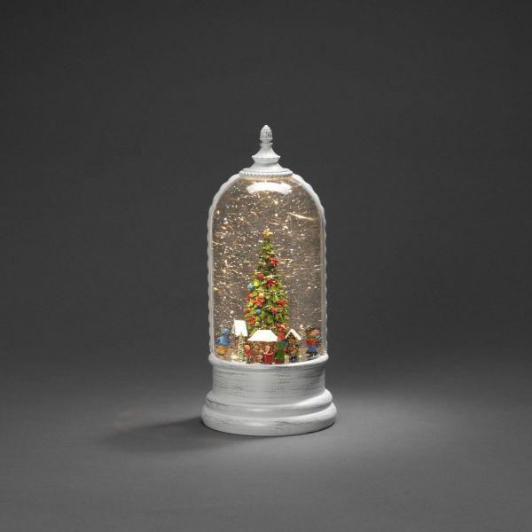 LED-Laterne Weihnachtsmarkt Weiß