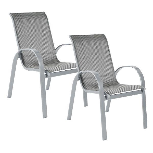 Outdoor Sessel Set 2 tlg. Futura silberfarben