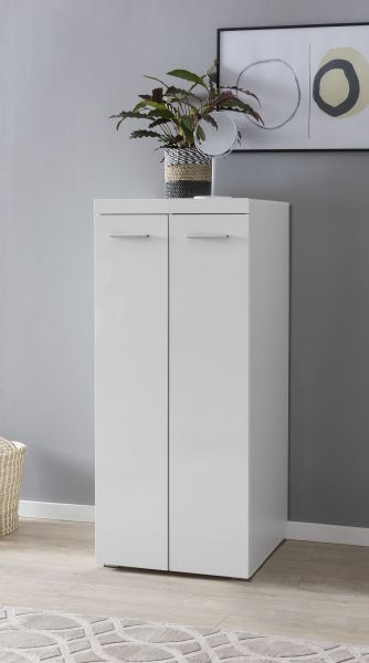 Midi-Kleiderschrank 60 x 139 cm Weiß hochglanz