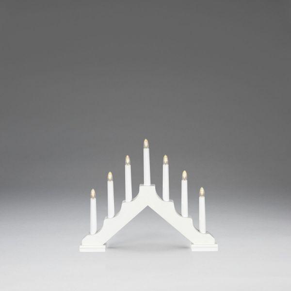 LED-Holzleuchter Gabriel Weiß