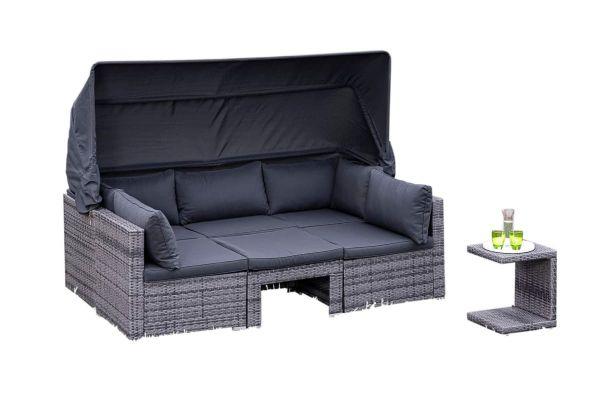 Outdoor-Lounge-Set Freya Grau