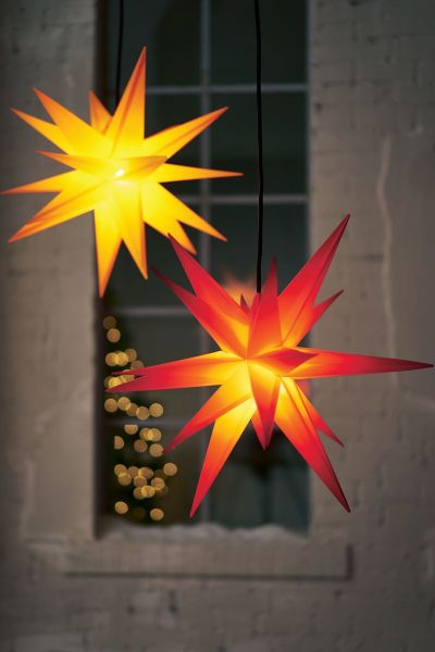 Beleuchtetes Deko-Objekt Stern Gelb