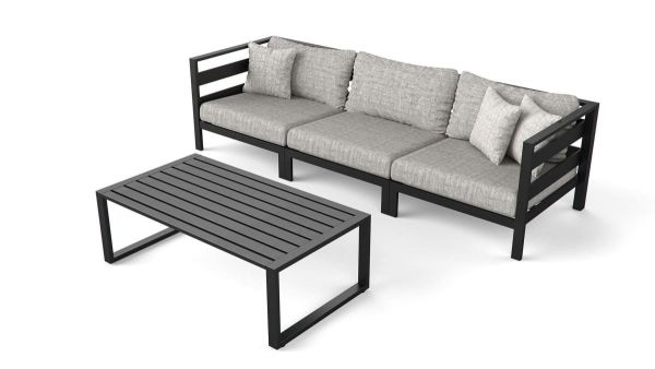 Outdoor-Lounge-Set, 2-tlg. Nino Anthrazit