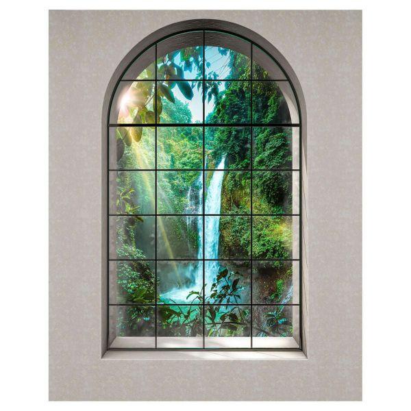 Vlies Fototapete Paradies Fenster