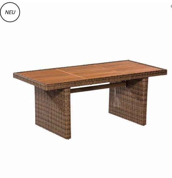 Outdoor-Tisch Toskana Gartentisch Polyrattan