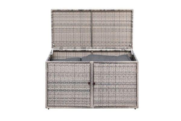 Kissenbox Multi Grau mit Türen und Deckel