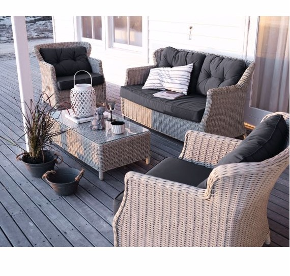Outdoor-Lounge Set Auflagen Landhaus