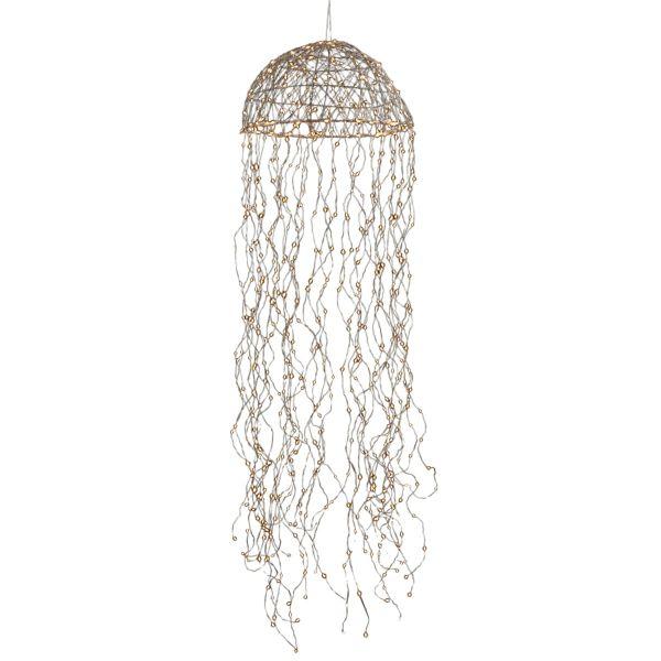 LED-Hängeleuchte Jelly Silberfarben Ø 45 cm