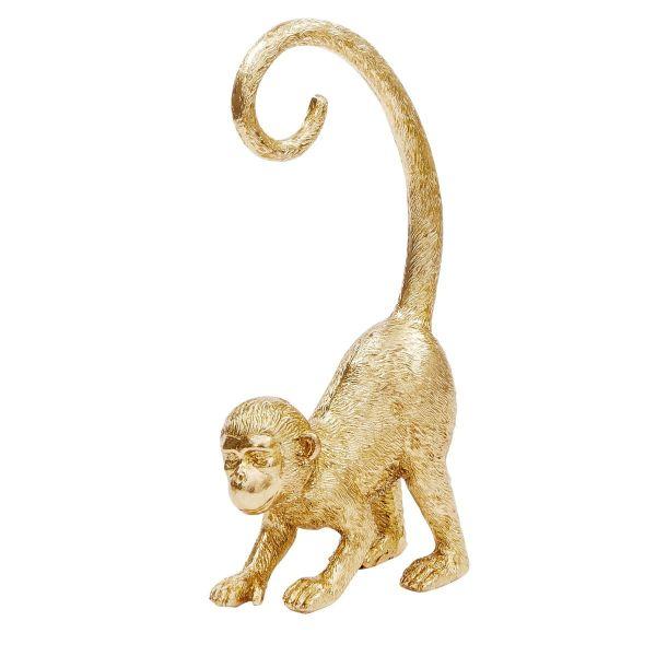Deko-Figur Affe Goldfarben