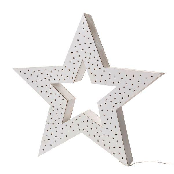 LED-Deko-Objekt Multi Stern Weiß klein