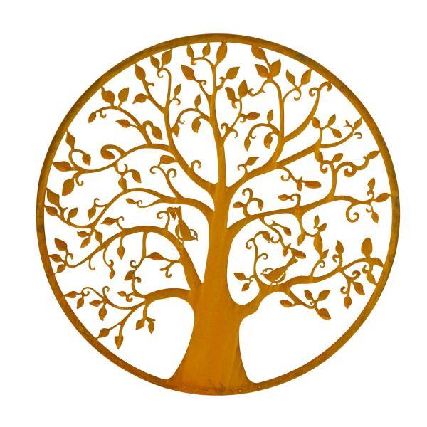 Wand-Objekt Lebensbaum Rost