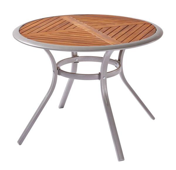 Outdoor-Tisch Valencia Natur Ø 100 cm