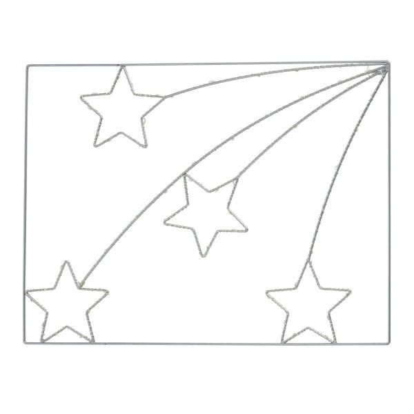 LED Beleuchtung Sternenregen Silberfarben