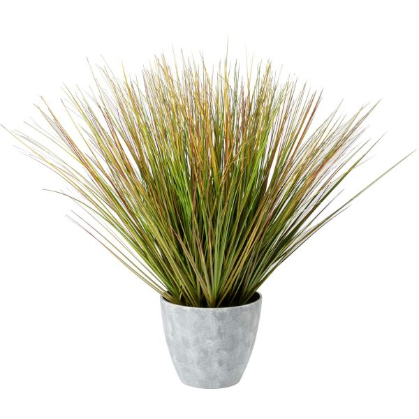 Kunstpflanze im Topf Zwiebelgras Grün