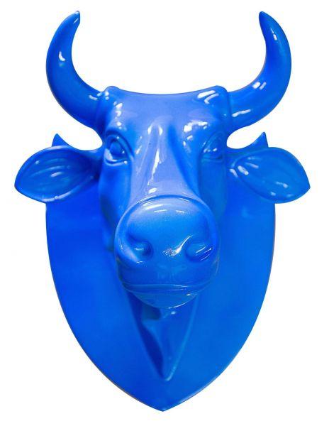 Garderobe Kuhkopf Blau