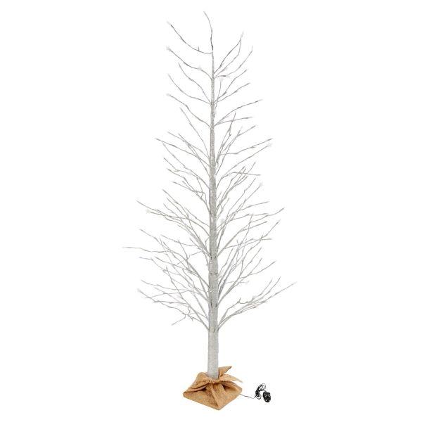 LED-Objekt Baum Silberfarben