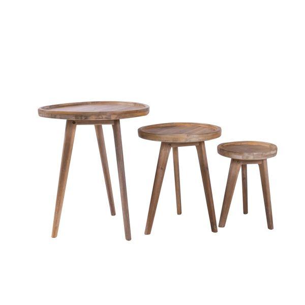 Outdoor Tisch Zirkel natur klein