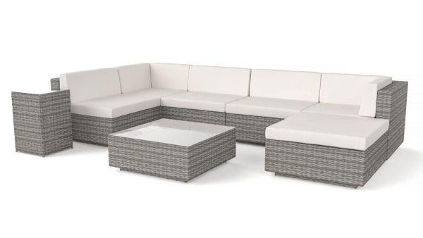 Outdoor-Lounge-Set, 4-tlg. Lido Grau