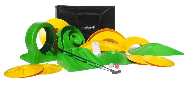 Minigolf-Set, 17- tlg. Basis Gelb/Grün