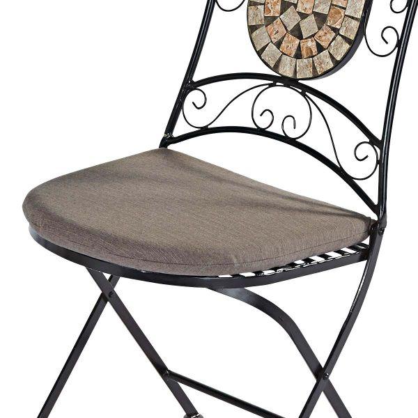Sitzkissen-Set, 2-tlg. Kemo Taupe