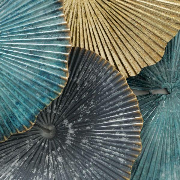 Wand-Objekt Aquamarine Blau/Goldfarben