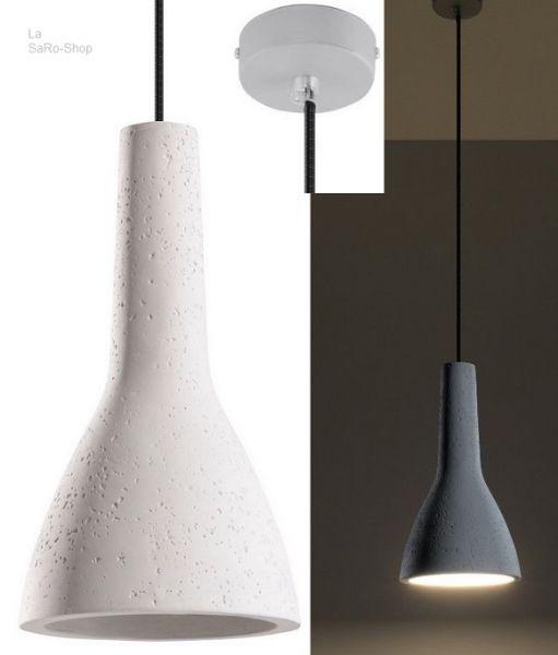 Hängeleuchte Empoli Beton/Zement Weiß