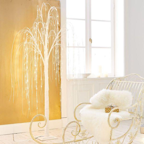 LED-Trauerweide Bianco Weiß