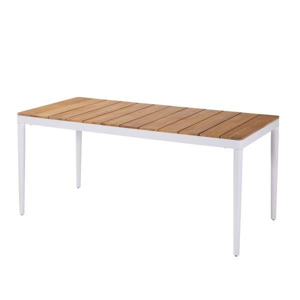 Outdoor-Tisch Villana Natur/Weiß