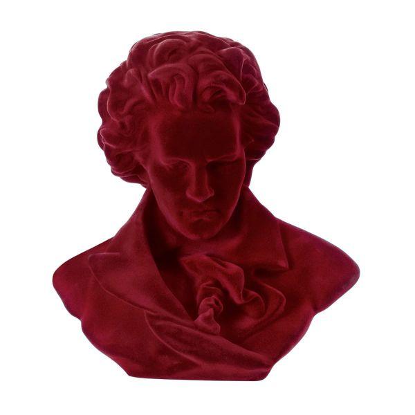 Deko-Figur Beethoven Dunkelrot