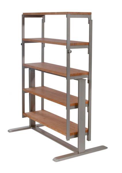 Regal / Tisch Swing Silberfarben XL